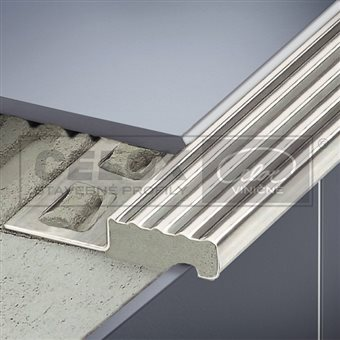 Stair nosing profile S Stainless steel
