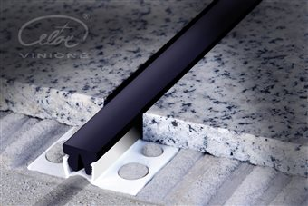 Movement joint with replaceable insert PVC