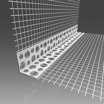 Screed corner with mesh PVC