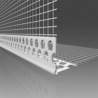 Screed corner with inside mesh PVC