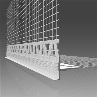 Corner profil with gutter PVC